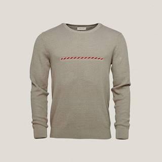 Pánsky sveter s podielom COOLMAXU  zelená