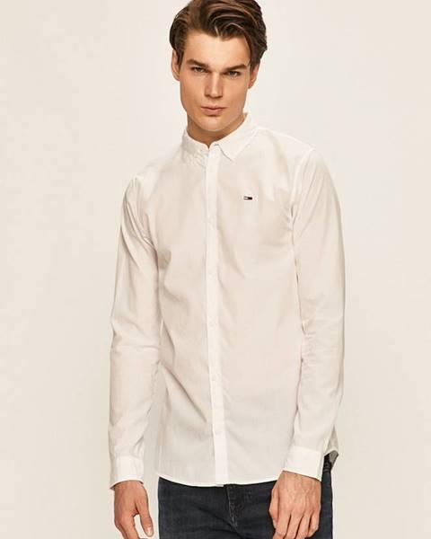 Biela košeľa Tommy Jeans