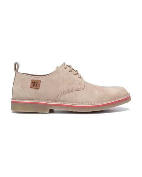 Béžové topánky Trussardi Jeans