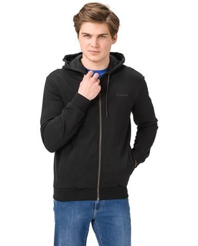 Čierna bunda s kapucňou Trussardi Jeans