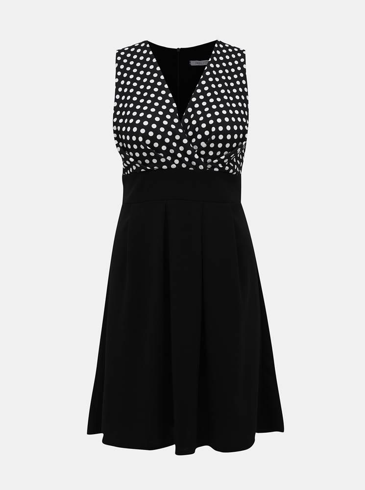 Haily´s Čierne bodkované šaty Haily´s Ilona
