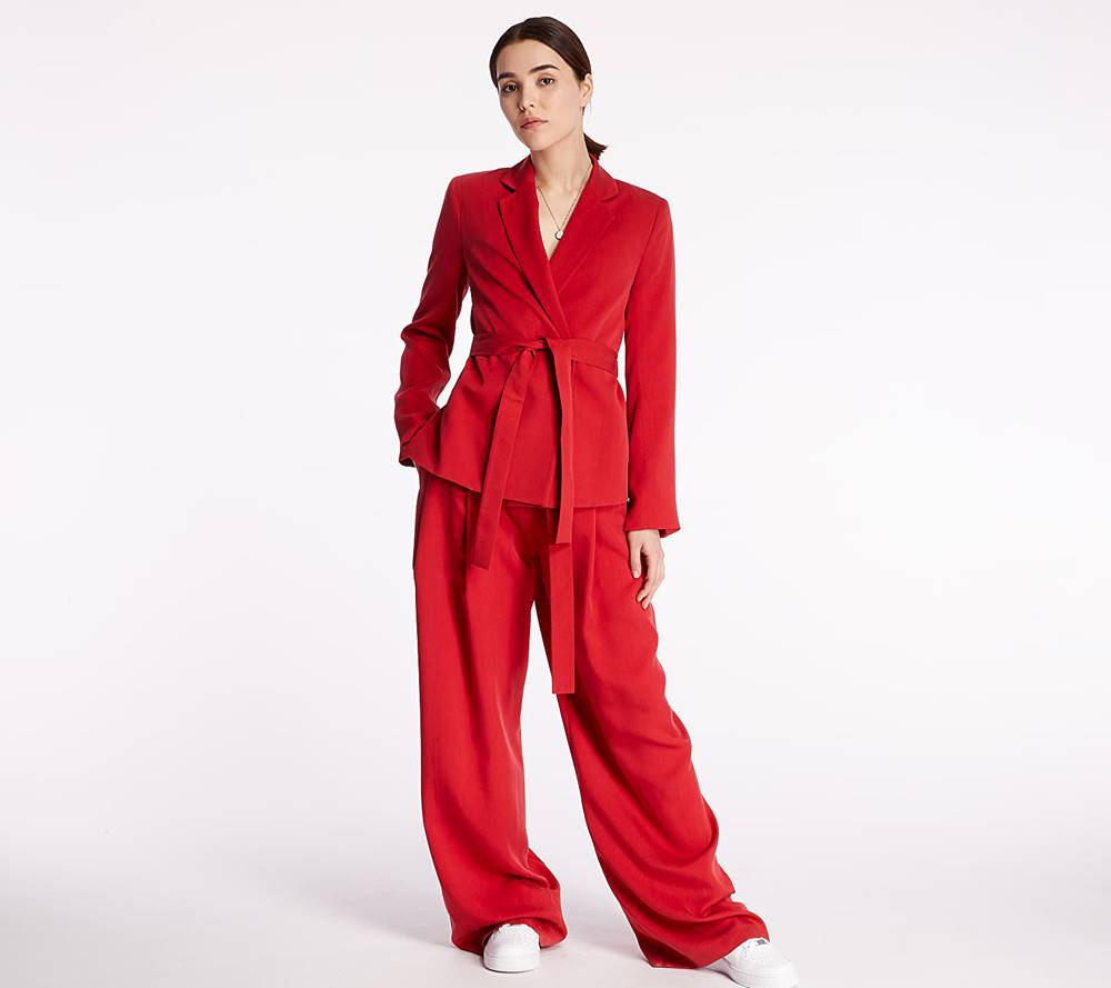 Pietro Filipi Pietro Filipi Lady's Trousers Bright Red