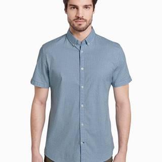 Modrá pánska košeľa s drobným vzorom Tom Tailor