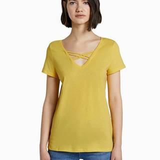 Žlté dámske tričko Tom Tailor Denim