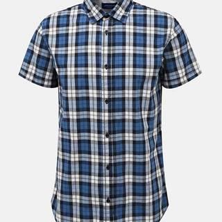 Modrá kockovaná košeľa Jack & Jones Chad