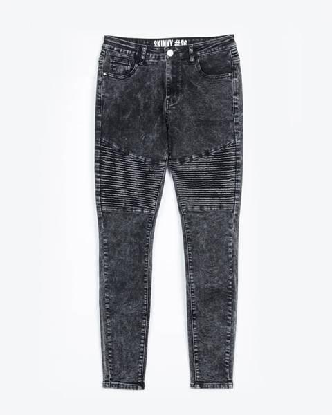 GATE Motorkárske džínsy skinny