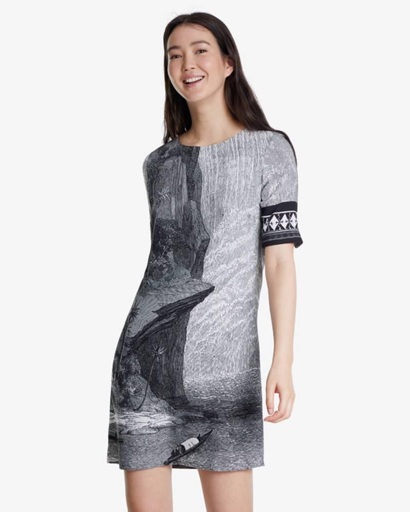 Desigual Desigual Šaty Čierna Biela