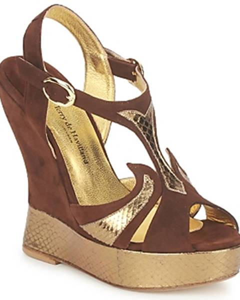 Hnedé sandále Terry de Havilland