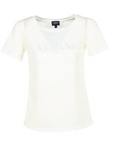 Biele tričko Armani jeans