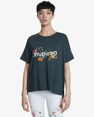 Zelené tričko Desigual