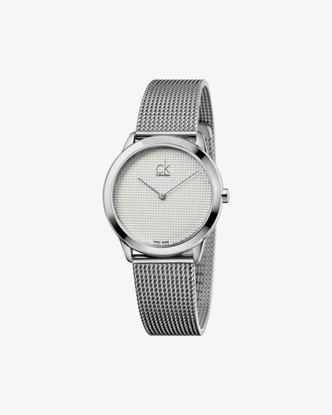 Strieborné hodinky Calvin Klein