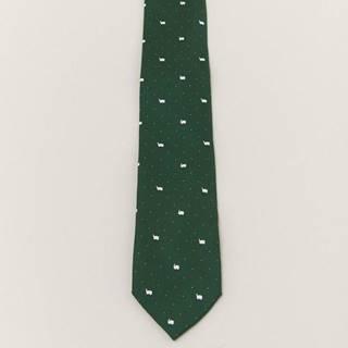Pánska kravata  zelená