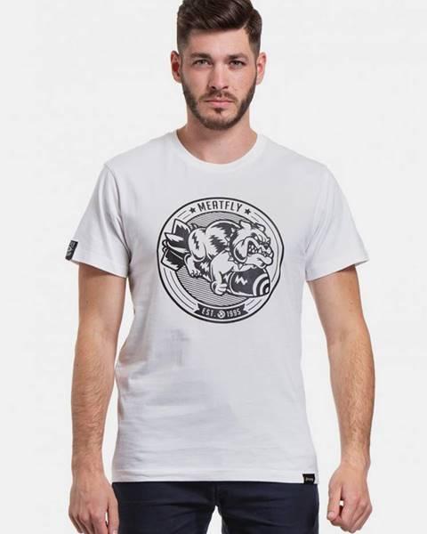 Biele tričko Meatfly