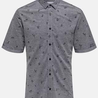 Šedá vzorovaná košeľa ONLY & SONS