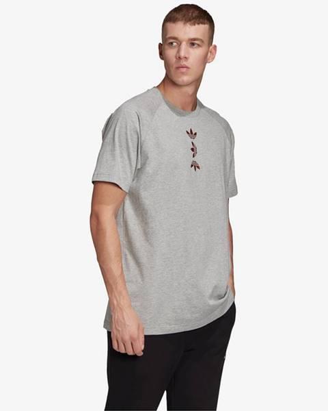 Sivé tričko adidas Originals