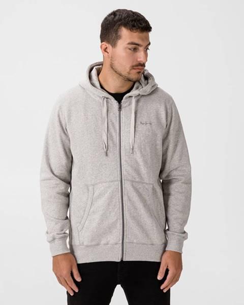 Sivá bunda s kapucňou Pepe jeans