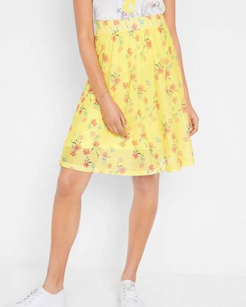 Žltá sukňa bonprix
