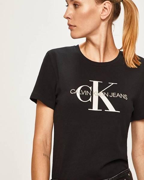 Čierne tričko Calvin Klein Jeans
