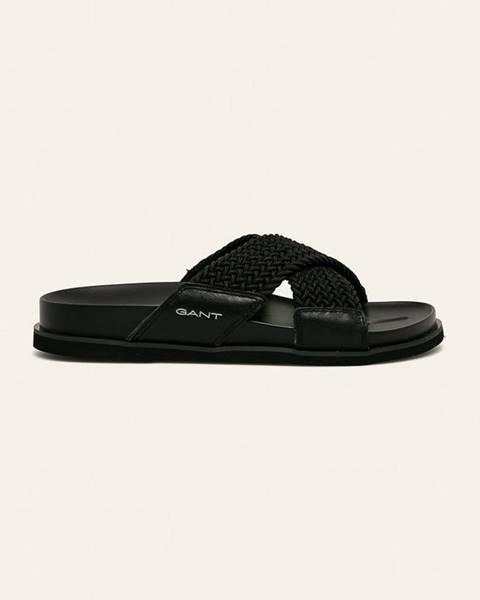Čierne sandále Gant