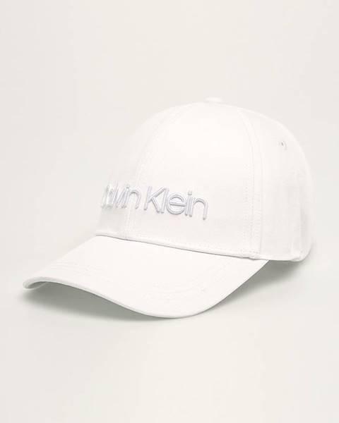 Biela čiapka Calvin Klein