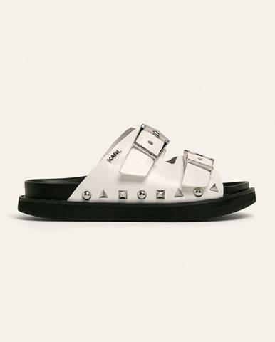 Biele sandále Karl Lagerfeld