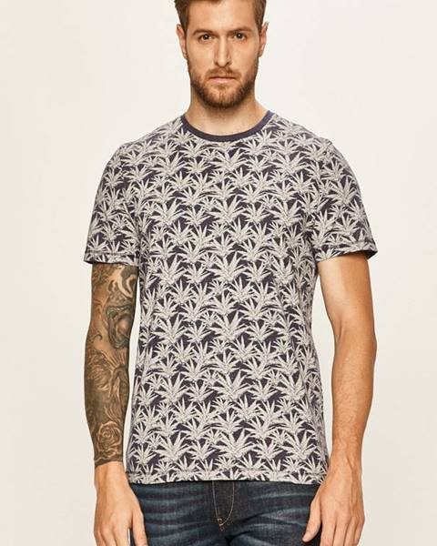 Tmavomodré tričko Tom Tailor Denim