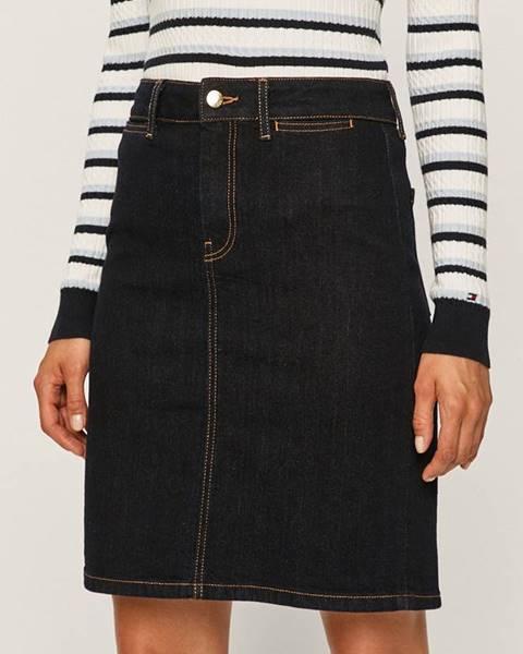 Modrá sukňa Tommy Hilfiger