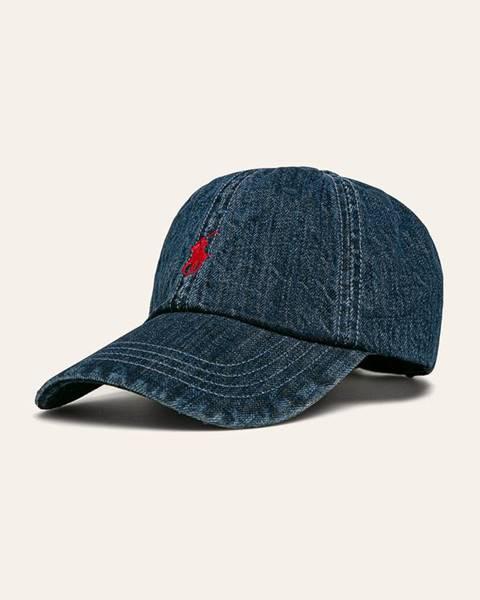 Modrá čiapka Polo Ralph Lauren