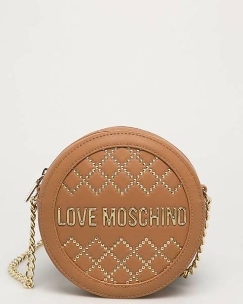 Hnedá kabelka Love Moschino