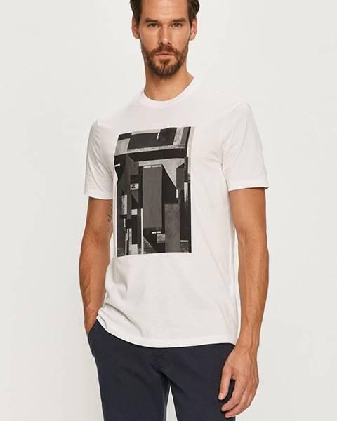 Biele tričko Armani Exchange