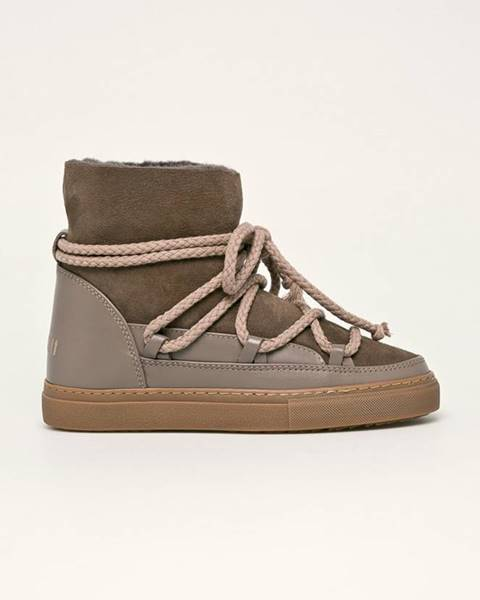 Hnedé zimná obuv Inuikii