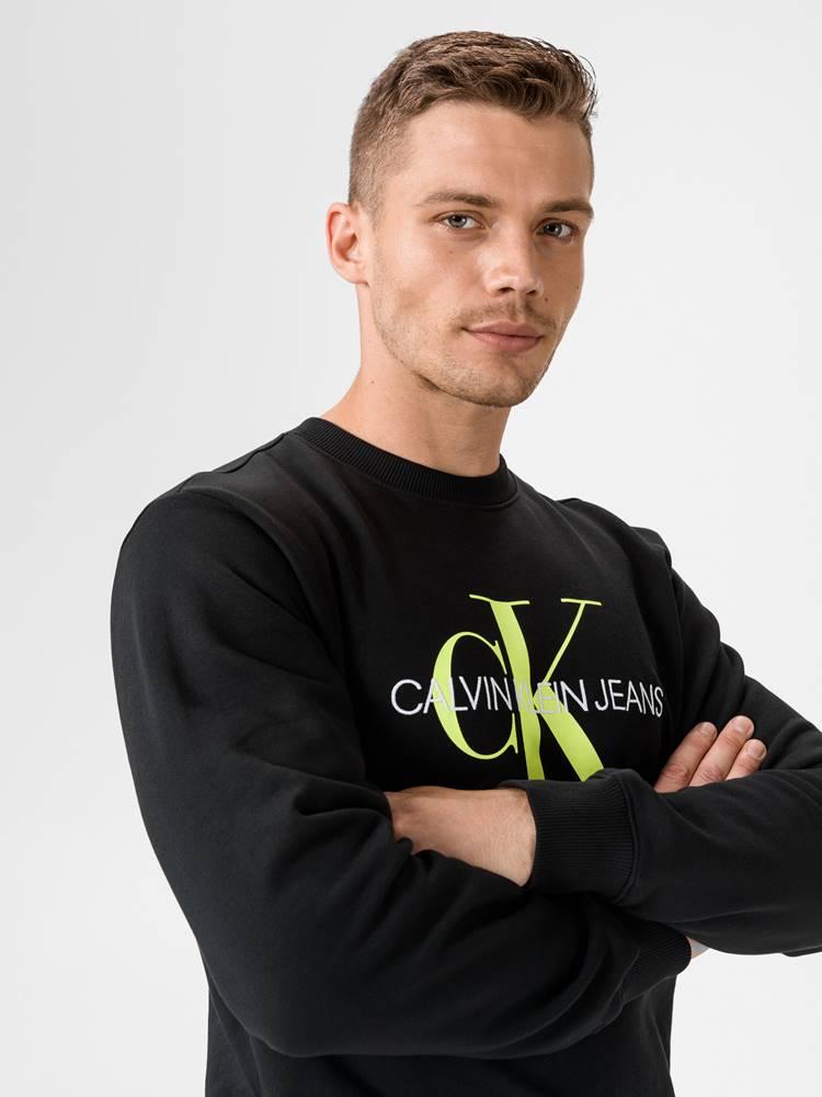 Calvin Klein Monogram Mikina Calvin Klein Čierna