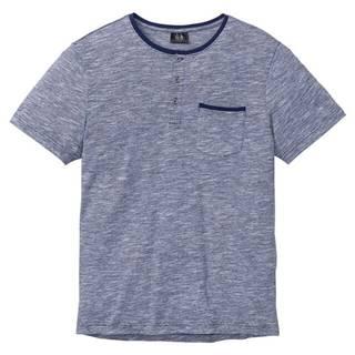 Melírované tričko Henley