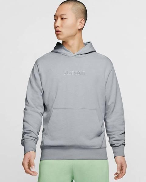 Sivá bunda bez kapucne Nike